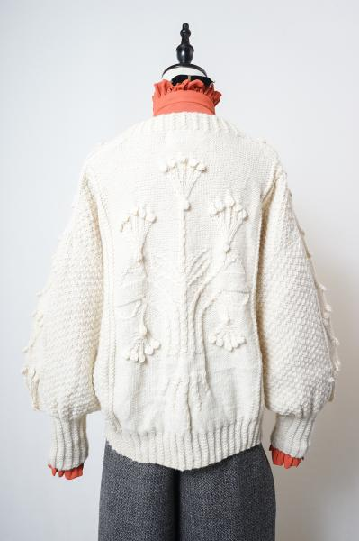 Made In Scotland Flower Hand Knitting Sweater