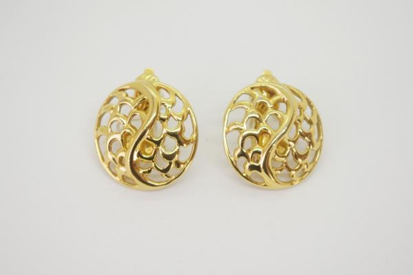 TRIFARI Design Gold Earrings