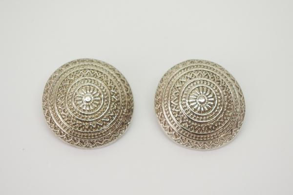 Silver Concho Earrings