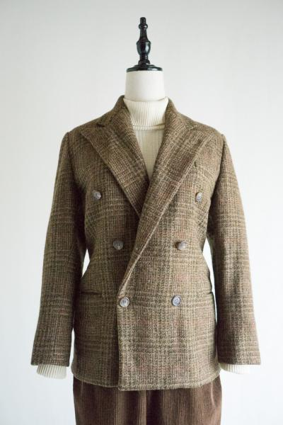 Ralph Lauren Check Wool Double Jacket