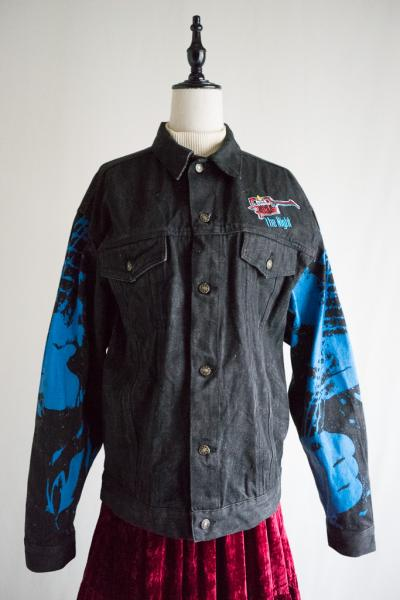 Painting Black Denim Jacket