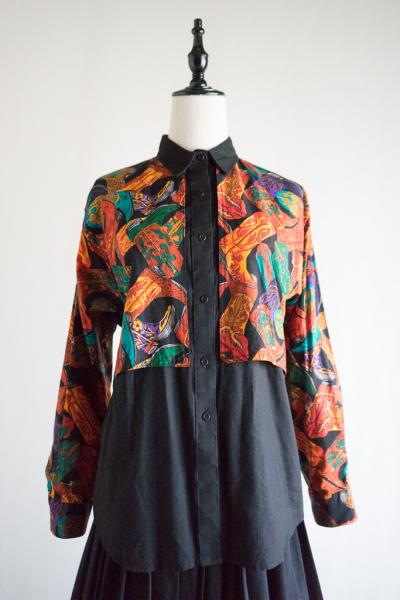 Western boots pattern Blouse
