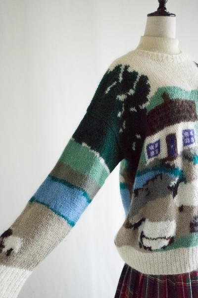 Sheep farm Design Mohair Sweater