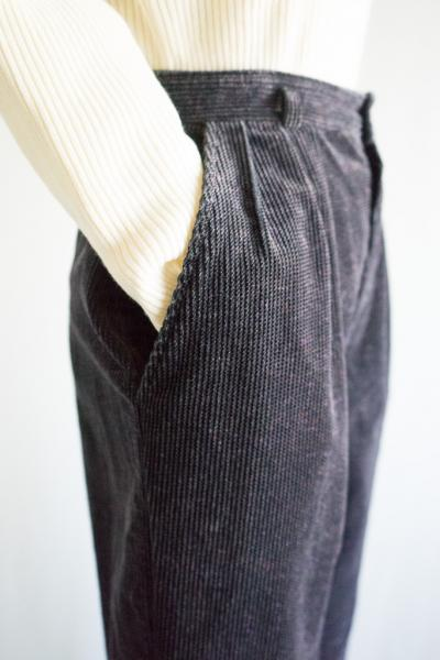 Nep Smoky Black Corduroy Pants