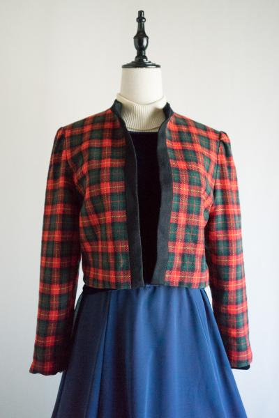 Lanz Check Wool Short Jacket