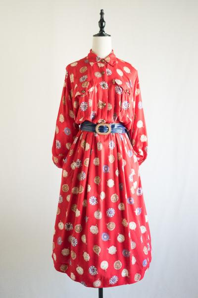 Pocket watch Pattern Red Dress
