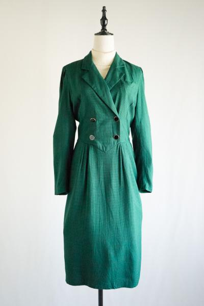 Tailored Design Green Check Dress
