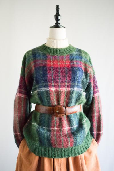 Design check Mohair Sweater