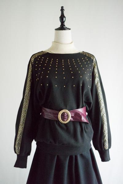 Studs Design Dolman Sleeve Sweat