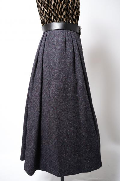 Marble Gray Button down Skirt