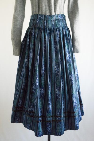 C&A Made In Euro Flower stripe Tyrol Skirt