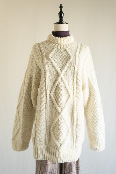 Hand-made Turtlneck Long Sweater