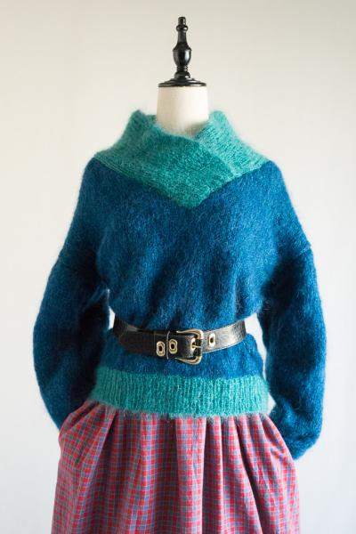 Stand Cache-coeur Bicolor Sweater