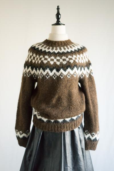 Dark Brown Nordic Sweater