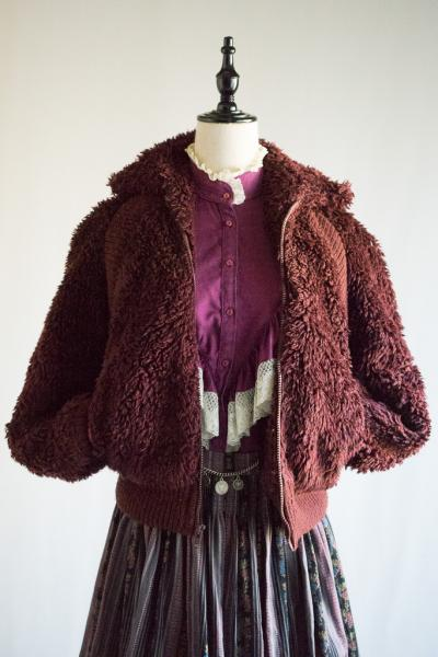 Faux all fur Red brown Jacket