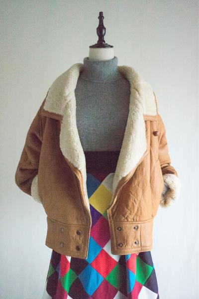 70's ARGENTIN Big Mouton Coat