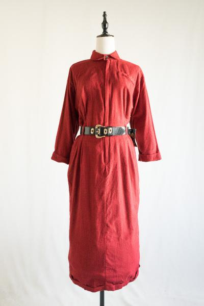 Dead Stock Byer Too! Red Flannel Dress