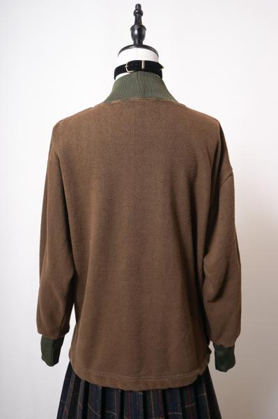Euro Military Liv Knit neck Sweat(Brown)