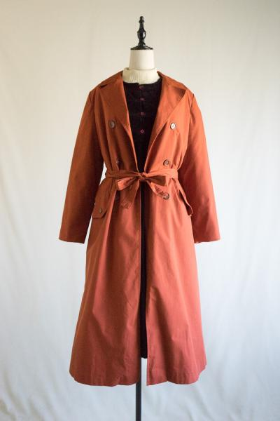 Terracotta With Bore liner Trench Coat